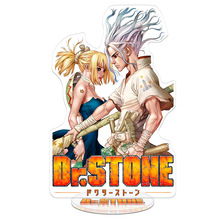 Colorful Dr.STONE Anime Action Figures Toy Double Sided Plastic High Quality Collections Japanese Model Toys 21cm