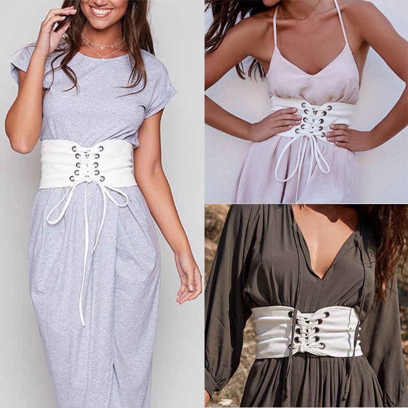 bf3ff08dbe ... Vintage Black Lace Up Corset Bandage Women Waist Belt Shape-Making  Midriff-Cinchers Plus