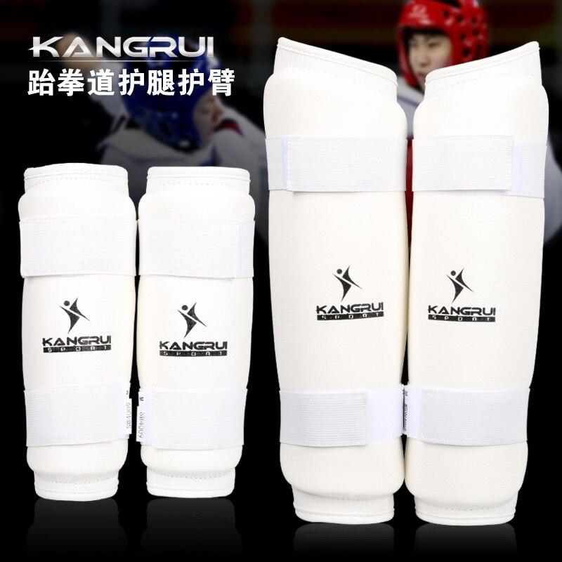 ФОТО 2016 new arrivial kangrui Adult male female kids PU leather WTF Approve Taekwondo Karate arm and leg protector guards