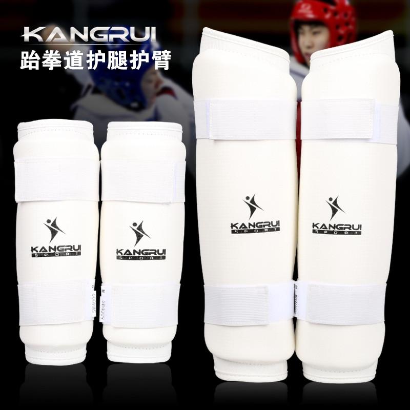 Prix pour 2016 nouveau arrivial kangrui Adulte mâle femelle enfants PU en cuir WTF Approuver Taekwondo Karaté bras et jambe protecteur gardes