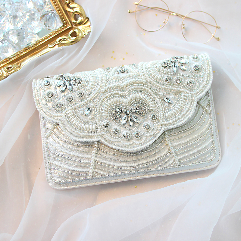 evening bags book bag white woman 2018 new summer original bead envelope woman hand women hand grab bag luxury envelope brand