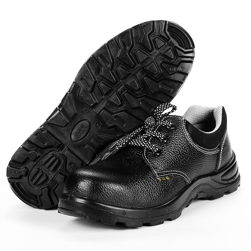2018 Men Work Amp Safety Boots Genuine Leather Shoes Anti