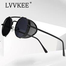 luxury brand Designer Retro Steampunk Sunglasses Round Steam Punk Metal