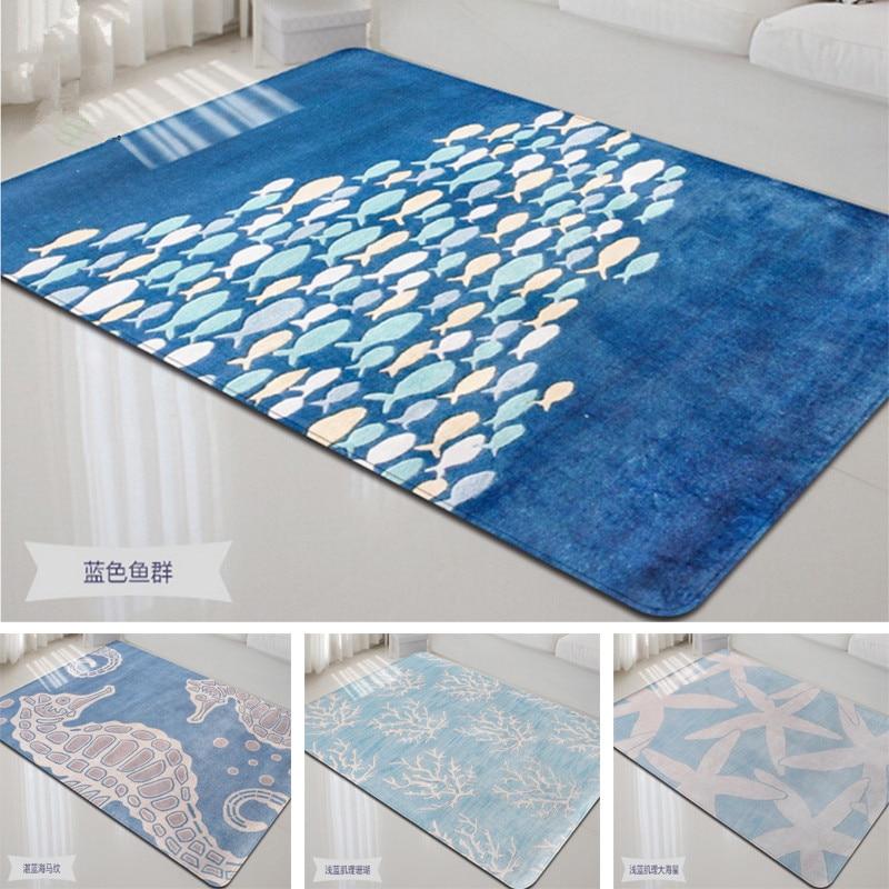 Marine Animal Print Carpet Nordic
