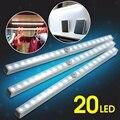 1.4 W 20 LED 45Lm PIR Inalámbrico Sensor de Movimiento de Energía de La Batería Luz Del Cajón Del Gabinete Closet Gabinete de La Lámpara Noche de Luz LED luz