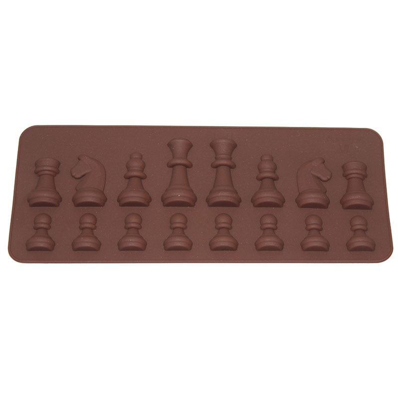 Cake Decoracion Tools 15 Üreges nemzetközi sakk alakú csokoládéforma jégcukor torta szappanforma szilikon kocka tálca D0143