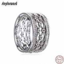 Nova coleção de boa qualidade popular clássico oco 925 real prata regal padrão anel