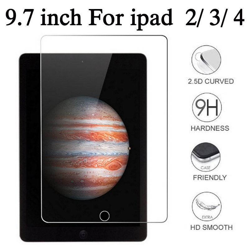 9.7 Inch For IPad Tempered Glass For Apple IPad 2 3 4 Screen Protector Protection IPad2 IPad3 IPad4 Protect Film Protective Glas стоимость