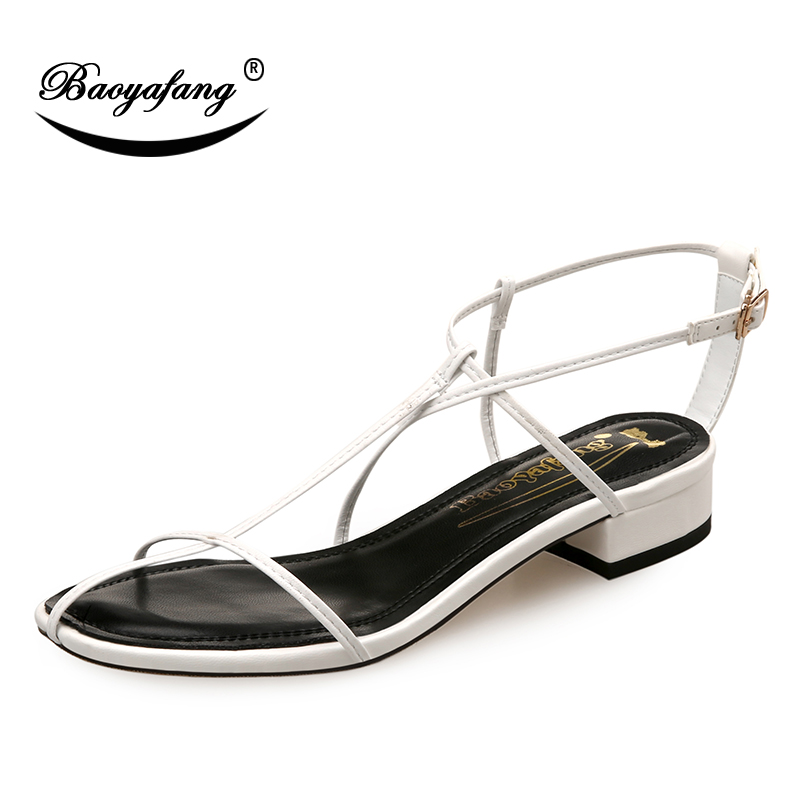 59a42f6df8 Aliexpress.com : Buy BaoYaFang New Ladies Summer Sandals low Heel ...