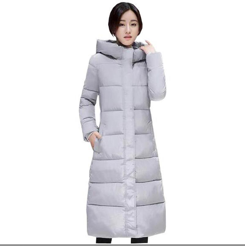 fashion women winter jacket x-long slim hooded snow wear female warm thick down parkas coat cotton-padded plus size coat kp0877 korean winter jacket women large size long coat female snow wear cotton parkas hooded thick warm coats and jackets 7 colors