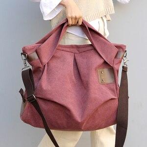 Image 1 - KVKY Brand Women Handbags Ladies High Quality Casual Female Tote Messenger Big Bag Shoulder Bag Large Canvas Bolsos