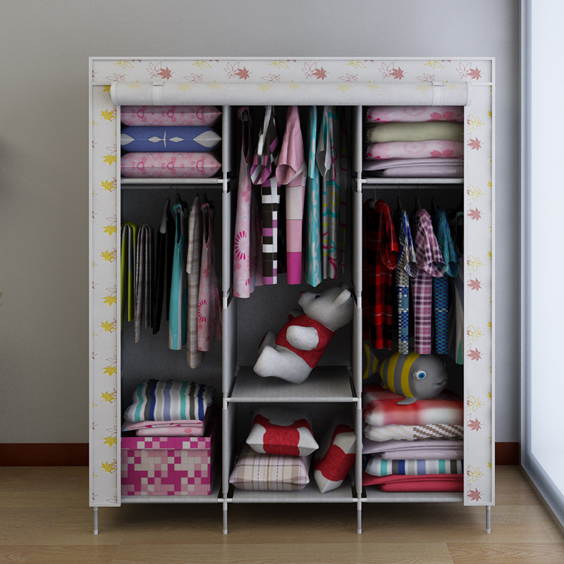 Simple Simple Wardrobe Cabinet Hanging Clothes Storage Cabinets Put Cloth  Kitchen Metal Frame In Wardrobes From Furniture On Aliexpress.com | Alibaba  Group