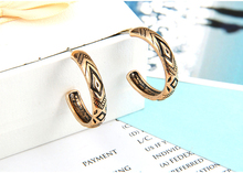 Retro Tibetan Antique Gold Silver Color Vintage Round Carving Stud Earrings For Women Fashion Jewelry Brincos Boucle Doreille