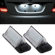 2x White Auto Error Free 3528 SMD 18 LED License Plate Light Lamps For BMW E36 3 Series 1992-1998 318i 320i M3 dongzhen car error free 18led 3528 smd license plate light lamp fit for toyota crown bright white free shipping 2pcs