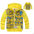 spring autumn children coat boys Minions Jackets brand printing hoodie jackets kids boys jacket cartoon clothes baby outerwear