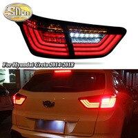 Автомобиль LED фонарь задний фонарь для hyundai Creta IX25 2014 2018 сзади дневного света + тормозной фонарь + обратный + Динамический поворотов
