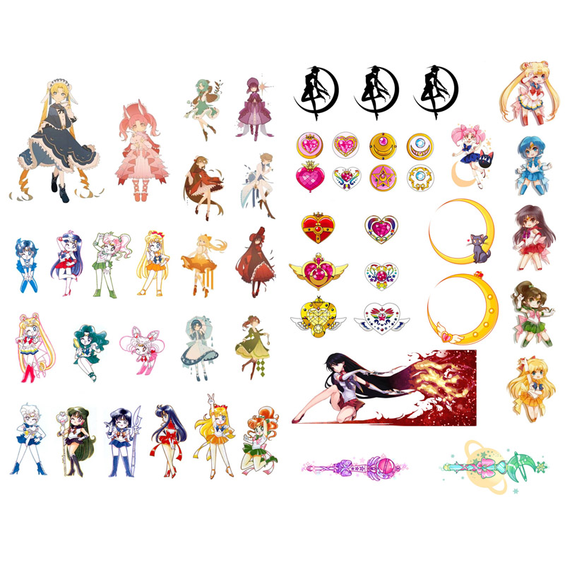 Apparel & Merchandise Lychee Life 75pcs Japanese Anime Sailor Moon Stickers Kawaii Cartoon Waterproof Decals Diy Scrapbooking Album Cards Decoration Parts & Accessories