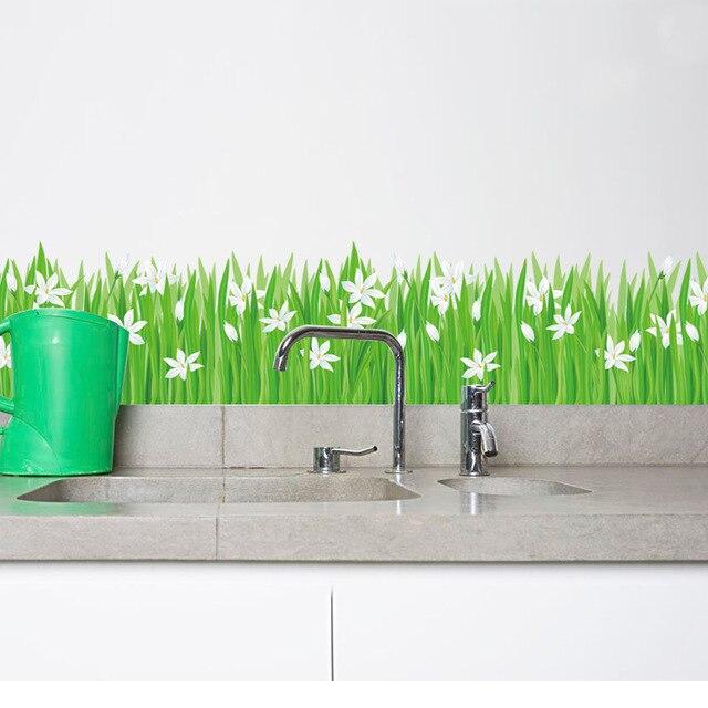 Sayuri Grass Skirting Diy Wall Sticker Glass Sticker Kitchen - Wall decals grass