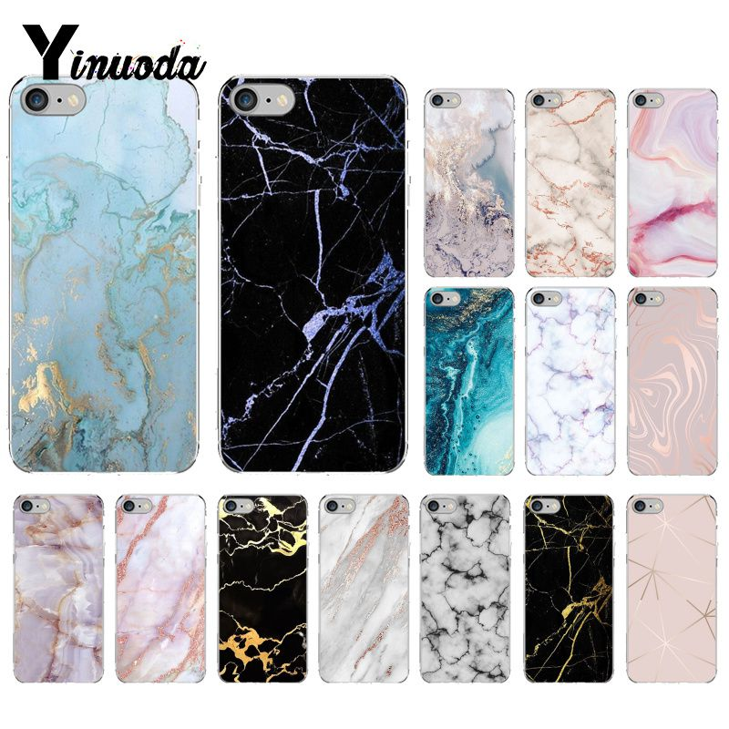 Mármol Granito Stone Textura Suave Cubierta Suave IMD Funda de Teléfono para iPhone X