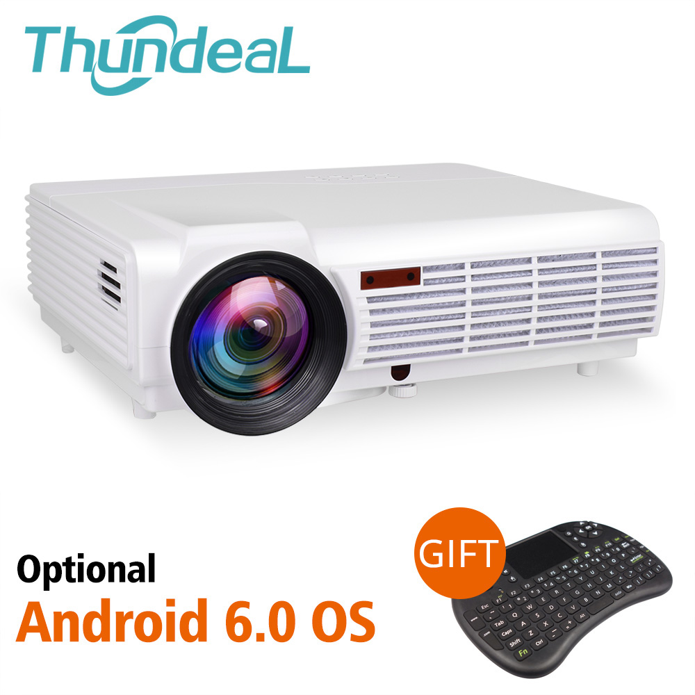 ThundeaL LED96 LED96W Proiettore Android WiFi Opzionale 3D Home Theater Full HD di Sostegno 1080 p HDMI Smart Beamer LED96 + BT96Plus