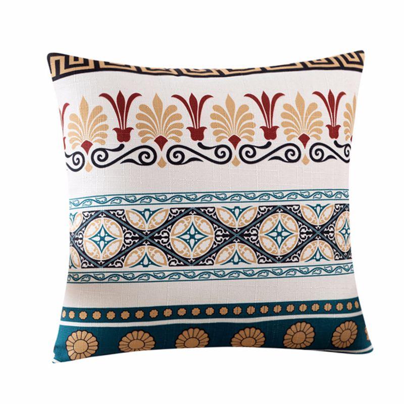 Купить с кэшбэком High Quality Vintage Pillow Cover Case Geometric Flower Bird Printed Pillows Cases Bedroom Home Decorative Throw Pillowcases