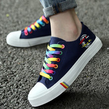 Women Casual Shoes Spring and Summer Ladies Lace-up Canvas