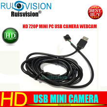 NEW HD 720P Mini USB 2.0 Webcam CCTV Camera With Board For use Computer PC Laptop Free shipping