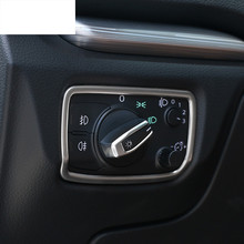 Car interior cover trim stainless steel strip headlight buttons panel decorative 3D sticker for Audi A3