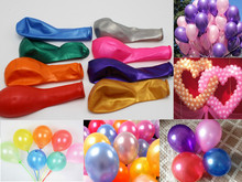 100Pcs 10 Mixed Color Pearl Latex Balloons Celebration Party Wedding Birthday-1.2gram