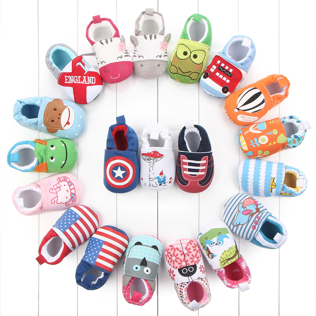 Koovan Baby Boys And Girls Shoes Toddler Shoes Baby Soft Bottom Shoes Cotton Not Drop Firstwalkers