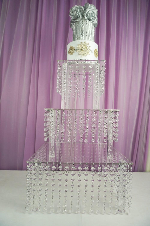 ᐃMain Table Decoration 3tire 3pcs/Set Wedding Crystal Cake Stand ...