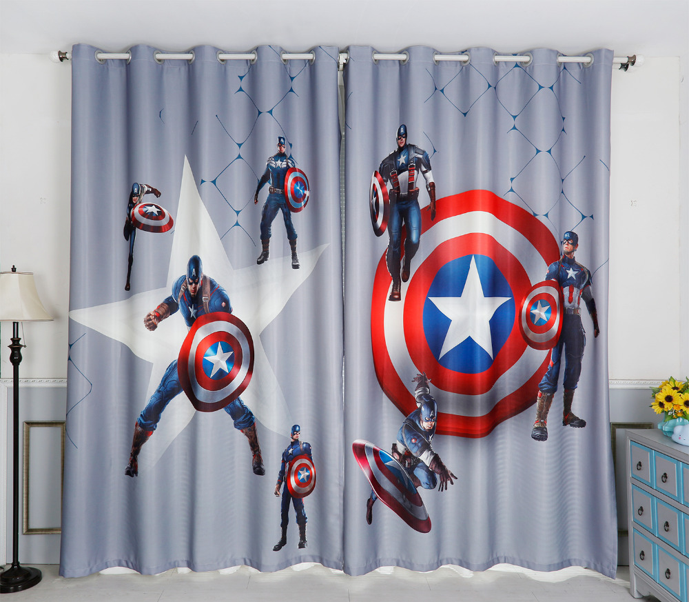 Marvel Window Curtains Avengers Wall Stickers Bedroom Art Dulux In