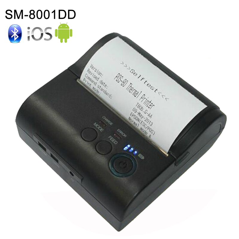 Nieuwe 80mm Mini Mobiele Draagbare Thermische Printer Android 4.2.2 Bluetooth 4.0 Printer Mini Android Printer Gratis met SDK