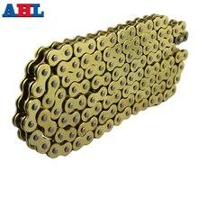 Детали мотоцикла 530*120 приводная цепь 530 шаг сверхмощное Золотое уплотнительное кольцо цепь 120 звенья для SUZUKI Hayabusa GSXR1300 99-07
