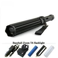 Baseball led flashlight cree xmL T6 Tactical torch waterproof lanterna 18650 Self Defence Glass Breaker penlight electric Torch