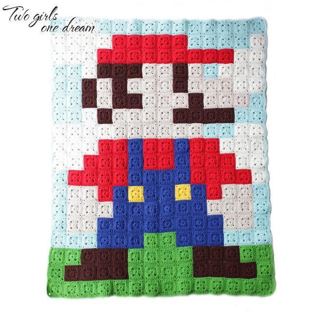 DIY Crochet Tablecloth Handmade Cushion Carpet Hand Hooked Fashion Children  Cartoon Crochet Blanket Table Mats Kids