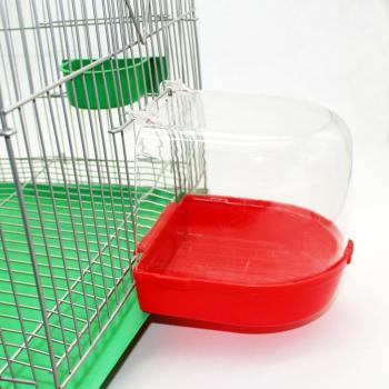 Adeeing Parrot Bird Bathtub with Hooks Cage Accessory Bird Bath Shower Box Random Color 1