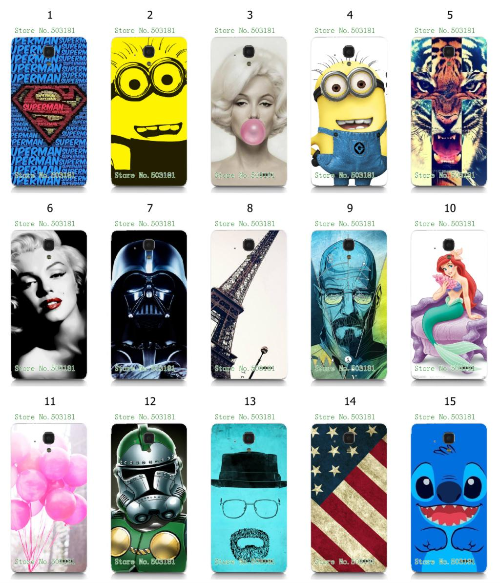 Minions Asylum Joker stitch STAR WARS hybird retail 15designs new arrival  white hard cover cases for Lenovo A358T free shipping