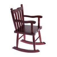 Miniature Wooden Rocking Chair for 1/6 Dollhouse Furniture, 1/4 BJD Dolls