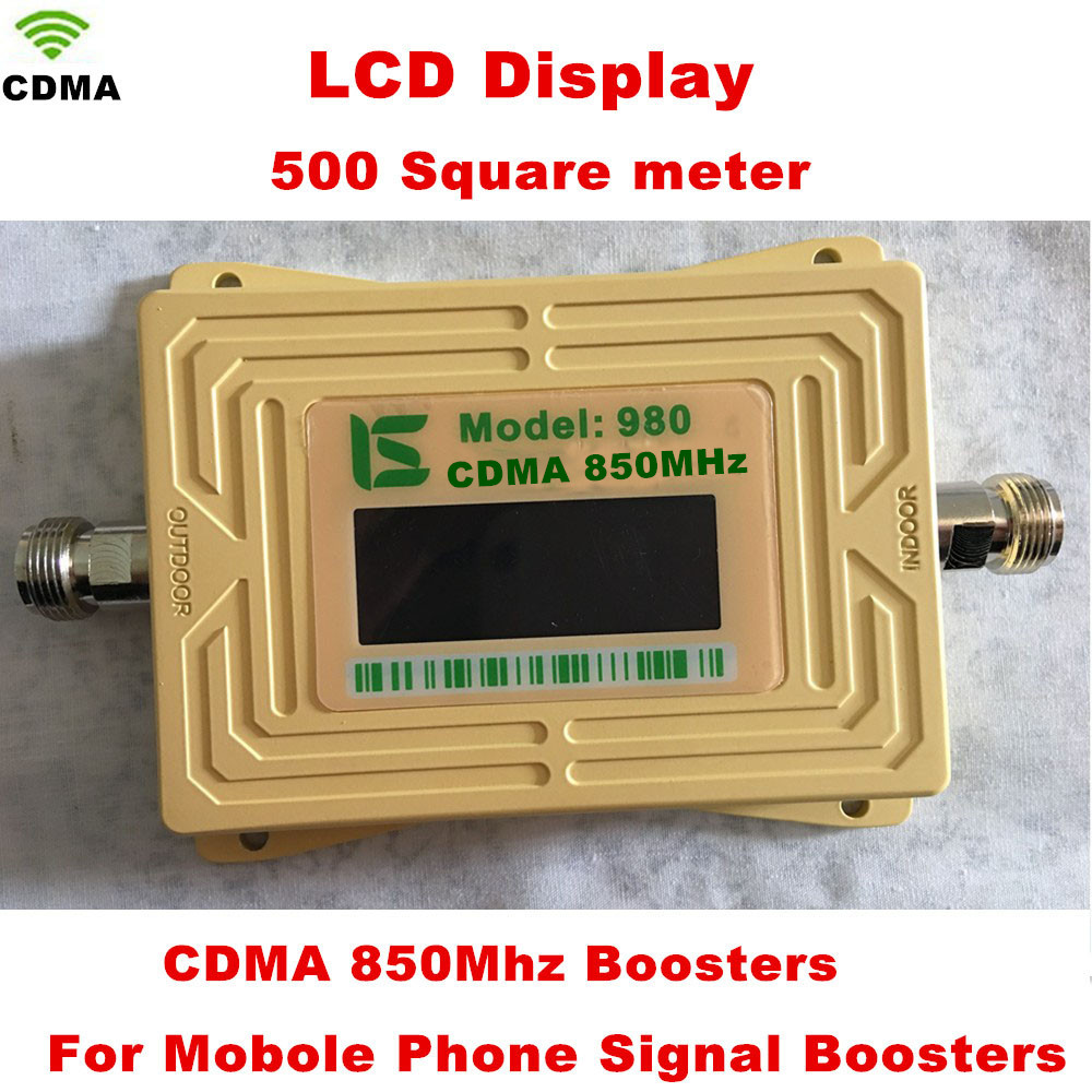 850 Mhz Repeater 70dB CDMA 800mhz Repetidor 850Mhz Cell Phone Signal Booster , GSM Signal Repeater Amplifier