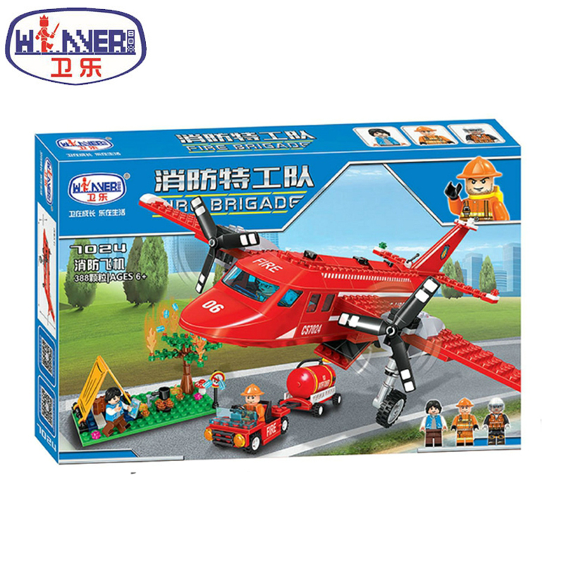 Winner 7024 388Pcs Fire Brigade Series Fire Aircraft Building Blocks Educational Toys Bricks Give The Children A Holiday Gifts nowodvorski sv 7024