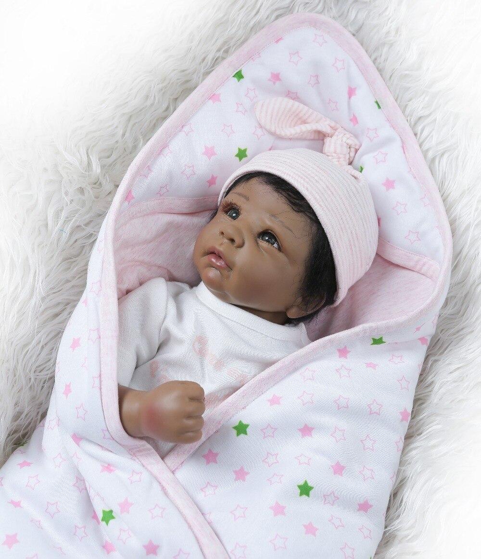 reborn doll 50cm Baby girl Dolls soft Silicone Boneca Reborn Brinquedos Bonecas children s Gift African