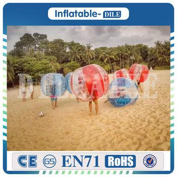 Nadmuchiwane kula bumper człowieka kołatka czna bańka piłka nożna piłka nożna 0 8mm TPU 1 5 m materiał nadające się do noszenia nadmuchiwane kula zorba tanie i dobre opinie DILEAIKE DILEAIKE00711 6 lat Plac zabaw na świeżym powietrzu Inflatable bubble ball