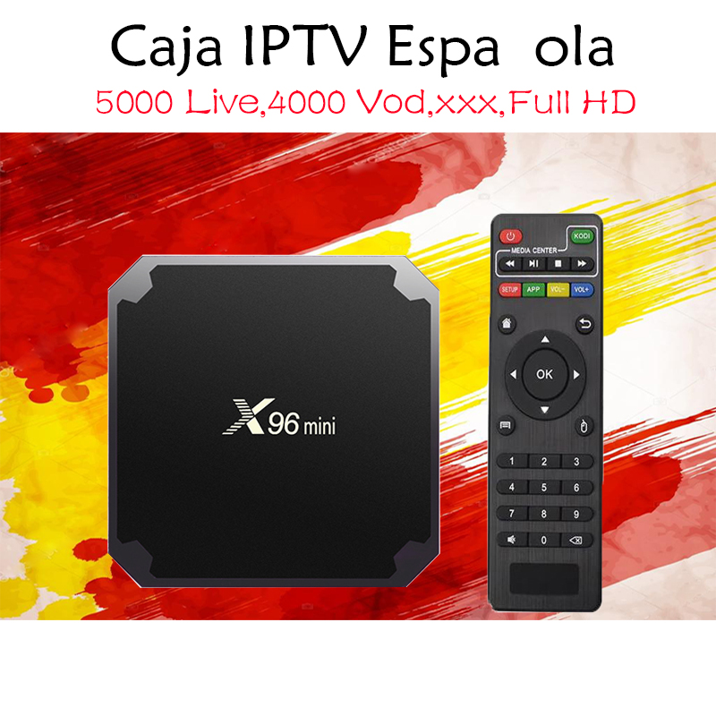 Spain IPTV X96 Mini 4K Android 7.1 TV Box with 5000 Live 4000 VOD xxx Spanish France Nordic Dutch Italia Europe IPTV Set top box цены