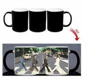 The Beatles Magic Mug Heat Color Changing Morph Mug Custom 300ML Coffee Cup Beer Milk Mug