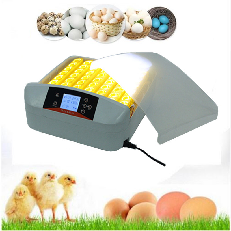 56 Eggs  Full-automatic small egg incubator Hatcher Machine for Chicken Duck Pigeons Quail Parrot Turtle Bird Incubation fast ship from germany cheap 48 egg incubator hatcher hatching machine for chicken duck quail parrot