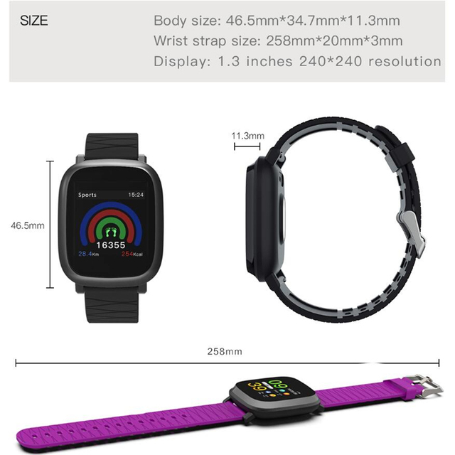 Wearpai M30 Smart watch blood pressure color screen fitness tracker Step Counter Activity Monitor smart sports watch men IOS 5