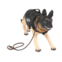 oMoToys 1:6 Scale Police Dog For 12 inch Action Figures Modeling with head rotate