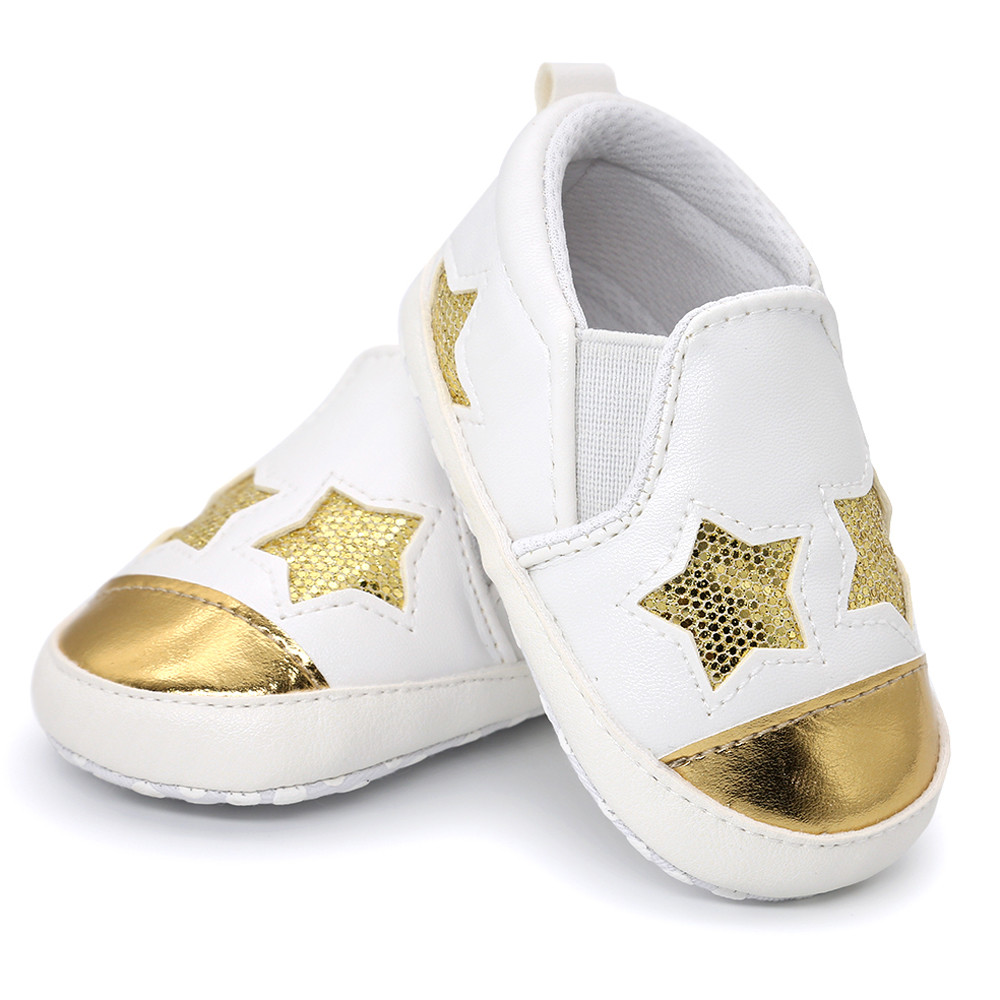 Newborn Baby Girl Boys heart-shaped Embroidery Hight Cut Shoes Sneaker Anti-slip Soft Sole Toddler Star First Walker Shoes