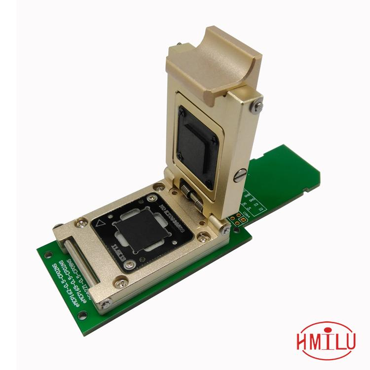 eMMC test socket to SD Interface Nand flash pogo pin BGA153 BGA169 reader Size 14x18mm Pitch 0.5mm smart phone date recovery new test seat turn the programmer bga socket 169 or 153 burning seat test fixture